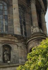 Ancienne cathédrale Notre-Dame - English: Boulogne-sur-Mer - Ville Haute - Rampart of Fortifications - View SW on Basilica of Notre-Dame de Boulogne 1875