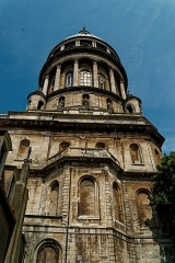 Ancienne cathédrale Notre-Dame - English: Boulogne-sur-Mer - Ville Haute - Rue de Lille - View NW on 101 m high Dome of the Basilica of Notre-Dame de Boulogne