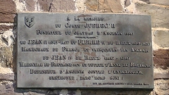 Château - English: Plaque at the entrance of Ancenis castle