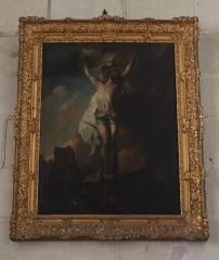 Eglise paroissiale (ancienne chapelle du château) - Français:   Intérieur de la collégiale Notre-Dame de Montreuil-Bellay (49). Tableau. Christ en Croix.