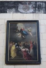 Eglise paroissiale (ancienne chapelle du château) - Français:   Intérieur de la collégiale Notre-Dame de Montreuil-Bellay (49). Tableau. Assomption.