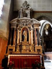 Eglise Notre-Dame des Cordeliers - Français:   Autel et retable du Sacré-Cœur. Église Notre-Dame-des-Cordeliers de Laval (53). Architecte: Pierre Corbineau.