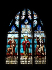 Eglise Notre-Dame - English: Stained glass inside Notre-Dame's church, in Mamers, Sarthe, France.