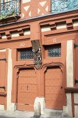 Maison dite des Deux Amis - Deutsch: Maison des Deux Amis, Rue de la Reine-Bérangère 18/20, in Le Mans im Département Sarthe (Pays de la Loire/Frankreich)