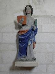 Eglise - Français:   Église Saint-Laurent de Neuvy-en-Champagne (72). Statue de sainte martyre.