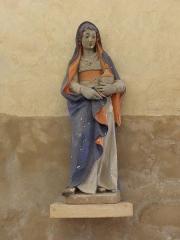 Eglise - Français:   Église Saint-Laurent de Neuvy-en-Champagne (72). Statue de Sainte-Marie-Madeleine.