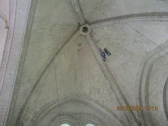 Eglise - Français:   Photographie prise en l\'église d\'Angles, montrant la coupole gothique angevine à quatre nervures de la première travée de nef.