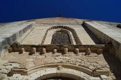 Eglise - Français:   La façade de l'église Notre-Dame-des-Anges d'Angles.