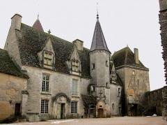 Motte féodale - Le corps du château de Châteauneuf (Côte-d'Or).