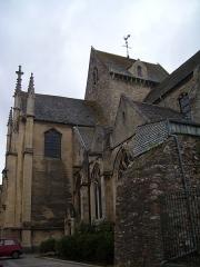 Basilique Sainte-Trinité -  Le côté sud de la basilique de la Trinité, Cherbourg-Octeville