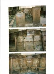 Eglise Saint-Pierre - English: Stalles of choir of Saint Pierre church of Coutances (50) France