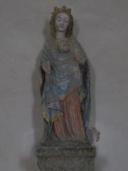 Eglise et cimetière qui l'entoure - Français:   Genêts, Manche