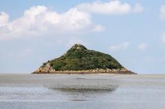 Ilot de Tombelaine - Deutsch: Tombelaine, kleine Insel bei Mont Saint Michel, Normandie, Frankreich