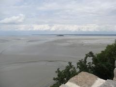 Ilot de Tombelaine - English: Bay of Mont Saint-Michel and Tombelaine island.