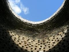 Abbaye de la Lucerne - English: Abbey of Saínte Trinité de La Lucerne, dovecote, interior, vault
