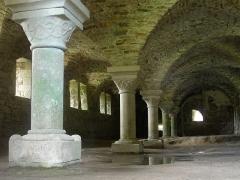 Abbaye de la Lucerne - English: Abbey of Sainte Trinité de La Lucerne, cave under refectory