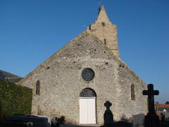 Eglise et cimetière qui l'entoure - English: churh side west