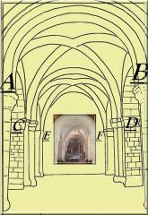 Eglise et cimetière qui l'entoure - English: Plan_du_Choeur_Eglise_de_Saint_Germain_sur_Ay