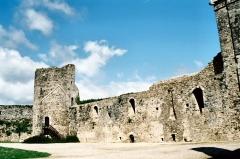 Ruines du château -  Normandy, France. Town of Saint-Sauveur-le-Vicomte. The old castle.