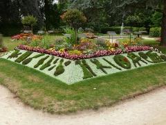 Jardin public - Deutsch: Ein Blumenmosaik im Jardin des Plantes von Coutances.