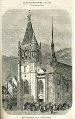 Eglise Saint-Martin - This work is in the public domain in the United States because it was published (or registered with the U.S. Copyright Office) before January 1, 1925.
