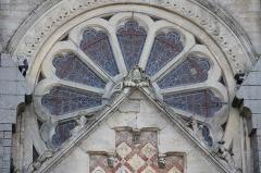 Eglise Notre-Dame de l'Assomption - Français:   Église Notre-Dame-de-l\'Assomption de la Ferté-Macé (France). Rosace.