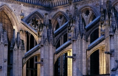 Cathédrale Notre-Dame - English: Bayeux, part of the cathdral, made from a hotel, now no longer existing