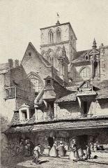 Eglise du Vieux-Saint-Sauveur ou église Saint-Sauveur-du-Marché (ancienne halle au beurre) - French lithographer and painter