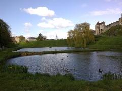 Château fort, actuellement collège -  Calvados Falaise Porte Des Cordeliers L'Ante Le Lac 23042016