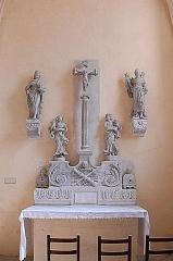 Eglise Saint-Vorles - Deutsch: St-Vorles de Châtillon-s-S, Altar Heiligkreuzkapelle