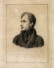 Hôtel Lantin, actuellement musée Magnin -  Jean-Guillaume-Elzidor Naigeon, Portrait de Charles-Philippe Larivière, vers 1824, fusain et pierre noire sur papier, Dijon, musée Magnin.