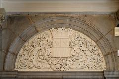 Théâtre - Français:   Bas-reliefs ornant le vestibule du Grand Théâtre de Dijon (Côte d\'Or, Bourgogne, France)