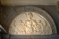 Théâtre - Français:   Bas-reliefs ornants le vestibule du Grand Théâtre de Dijon (Côte d\'Or, Bourgogne, France)