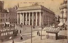 Théâtre - Français:   Carte postale ancienne éditée par L. V. édit, n°536: DIJON - Place du Théâtre