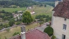 Château - Français:   Vue aérienne de la terrasse est du château de Frôlois.