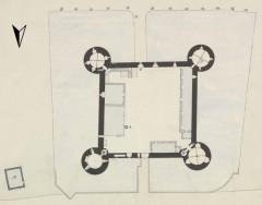 Château - Deutsch: Grundriss des Schlosses Posanges