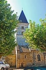 Eglise - Deutsch: St-Bathélémy, Farges, Turm u. Querhaus von N