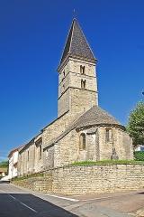 Eglise - Deutsch: St-Bathélémy,_Farges,_von_SO, Hasndskizze