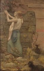 Couvent des Ursulines - La gardeuse de chèvres, Pierre Puvis de Chavannes 1893. Huile sur toile. Inv N°A.1037. Musée des Ursulines de Mâcon.