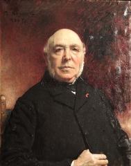Couvent des Ursulines - Portrait de F.Delarue, architecte par Léon Bonnat. S.D.h.g