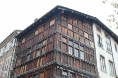 Immeuble dit La maison de Bois - Français:   Maison de bois de Mâcon.