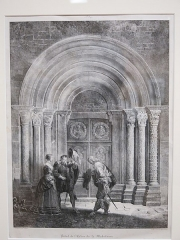 Eglise de la Madeleine - English: Portal of the church Sainte-Madeleine de Tournus (Saône-et-Loire, France) - Godefroy Engelmann (1788-1839). 1825.