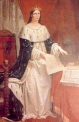 Hôpital -  Margaret of Burgundy, wife of Charles I of Naples