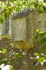 Château de Ratilly - Deutsch: Chateau-de-Ratilly, Toilettenerker auf Ostwand