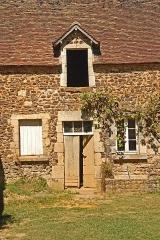 Château de Ratilly - Deutsch: Chateau-de-Ratilly, Nordflügel Südwand
