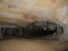 Grottes préhistoriques - English: Grotte des Fées, prehistoric site of Arcy-sur-Cure caves, Yonne, Burgundy, France.