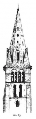 Eglise - English: Fig 63 -Tower and Spire of Chamant, Development & Character of Gothic Architecture.