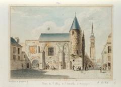 Ancienne abbaye de Saint-Corneille, abritant la Bibliothèque municipale Saint-Corneille -  Prison de l'abbaye de Saint-Corneille à Compiègne abbaye Saint-Corneille Picardie french kings Famille Mottet