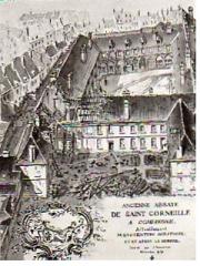 Ancienne abbaye de Saint-Corneille, abritant la Bibliothèque municipale Saint-Corneille -  abbaye Saint-Corneille famille Mottet, Picardie