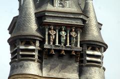 Hôtel de ville - English:   Compiègne, town hall, the Picantins